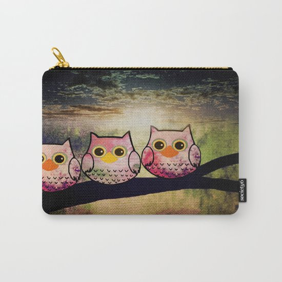 owl-1 Carry-All Pouch by Catsuper+ | Society6