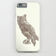 Wood Grain Owl Slim Case iPhone 6s