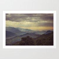 Annapurna Foothills. Art Print