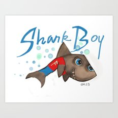 SHARK BOY Art Print