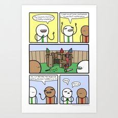 Antics #359 - constructive criticism Art Print