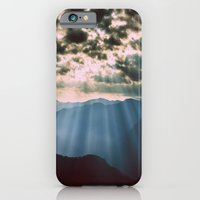 mountains iPhone & iPod Cases featuring mountainS Dark Sunset by 2sweet4words Designs