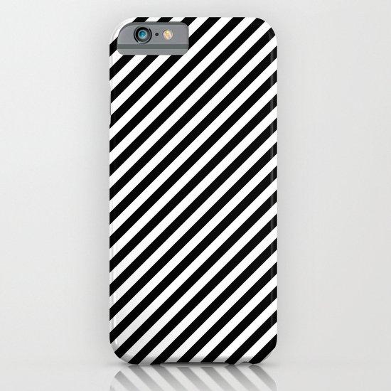 Classic Stripes Black + White iPhone & iPod Case