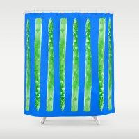 Asparagus Totem Shower Curtain