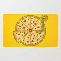 Pizza Vinyl Rug
