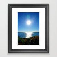Solitaire Sky Framed Art Print