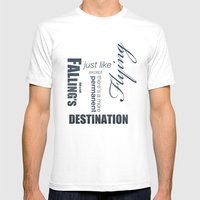 No. 8. Falling's Just Li… Mens Fitted Tee White SMALL