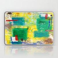 Green And Yellow Abstrac… Laptop & iPad Skin