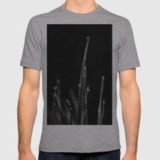 Black Grass Mens Fitted Tee Athletic Grey SMALL