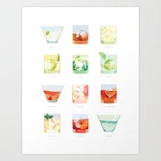 Cocktail Hour: Classic Cocktails Poster Art Print