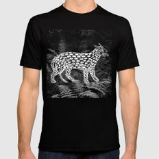 Forest Panther Mens Fitted Tee Black SMALL