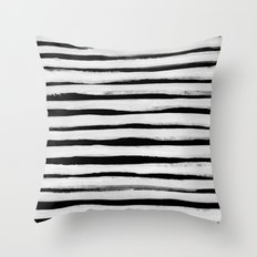 Black and White Stripes II Throw Pillow
