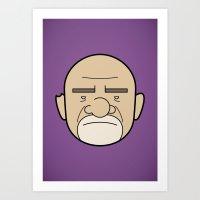 Faces Of Breaking Bad: M… Art Print