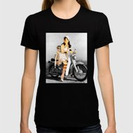 CardinalsRoller Collage Womens Fitted Tee Black MEDIUM