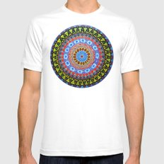 Kaleidoscope Mens Fitted Tee White SMALL