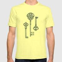 Three Skeleton Keys Mens Fitted Tee Lemon SMALL