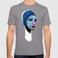 Woman's head Mens Fitted Tee Tri-Grey SMALL