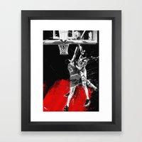Pippen Over Ewing Framed Art Print