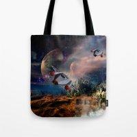 Planetary Encounter Tote Bag