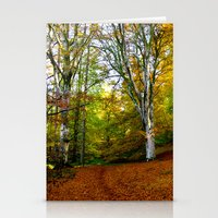 Autumn Trees Woodland Stationery Cards