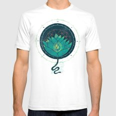 Blue Lotus Mens Fitted Tee White SMALL