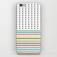 Stripes & Rings iPhone & iPod Skin