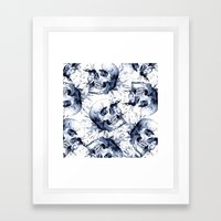 Skull Pattern Framed Art Print