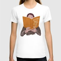 Studying (Gender Swap) Womens Fitted Tee White SMALL