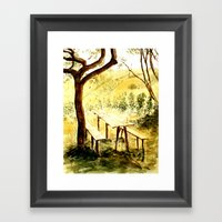 Wineyards Framed Art Print
