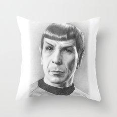 Spock - Fascinating (Star Trek TOS) Throw Pillow