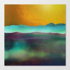 Amber Horizon Canvas Print