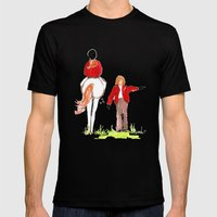 Sketches of a favorite equestrian Mens Fitted Tee Black SMALL