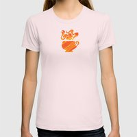 Mate Tea, Yellow On Yell… Womens Fitted Tee Light Pink SMALL