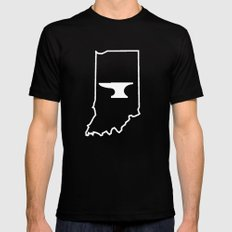 Indiana Blacksmiths Black Mens Fitted Tee SMALL