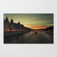 Seine River Canvas Print