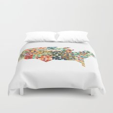 Geometric United States Duvet Cover
