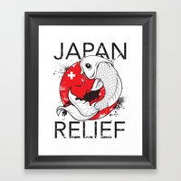 Japan Relief Framed Art Print