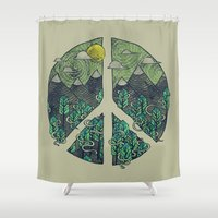 Peaceful Landscape Shower Curtain