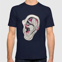 Relaxing voices Mens Fitted Tee Navy SMALL