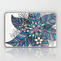 Line Floral Laptop & iPad Skin