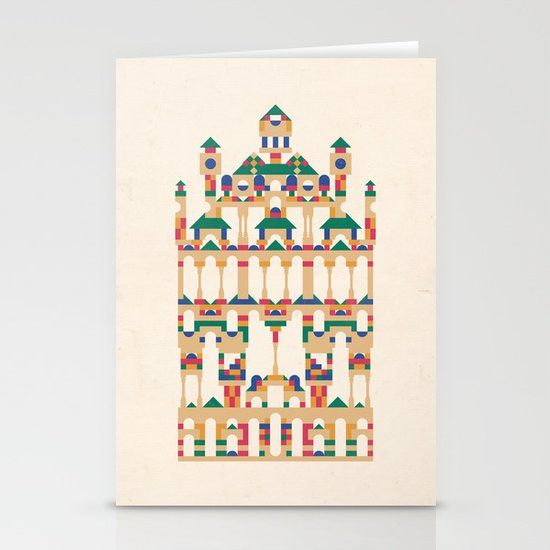 Block Façade Stationery Card