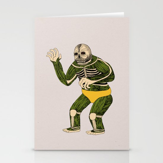 The Original Glowing Skull Stationery Card