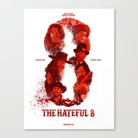 The Hateful 8 Canvas Print