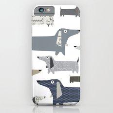 Weiner Dog Pattern iPhone 6 Slim Case