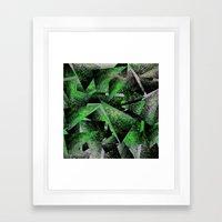 Green Triangles Framed Art Print