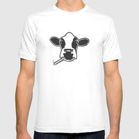 smoking cow Mens Fitted Tee White SMALL