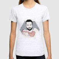 Beard02 Womens Fitted Tee Ash Grey SMALL