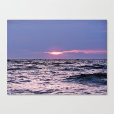 Water Level Sunset Canvas Print