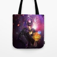 Tote Bag featuring  Tali'Zorah Vas Normandy… by Anabel Martinez Art