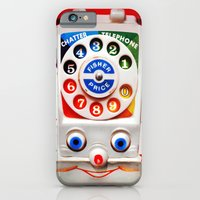iPhone Cases featuring Retro Vintage smiley kids Toys Dial Phone iPhone 4 4s 5 5s 5c, ipod, ipad, pillow case and tshirt by Three Second